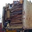 Matériaux non-recyclables d'un débarras