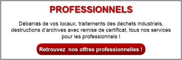 Services de destruction d'archives aux professionnels